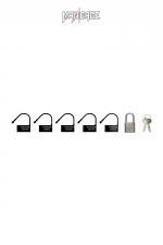 6 Cadenas  noir - Mancage : Lot de 6 petits cadenas noir (5 plastique + 1 métal) pour verrouiller vos accessoires BDSM.