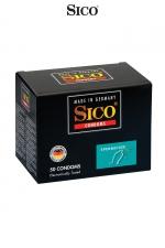 50 préservatifs Sico SPERMICIDE : 50 préservatifs haute qualité bénéficiant d'une protection supplémentaire grâce à un revêtement spermicide.